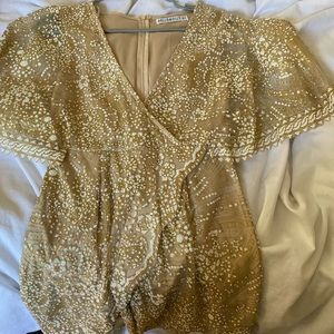 Hello Molly gold cocktail dress